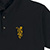 REAL BLOOM EMB POLO BLACK/GOLD M