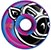 PIG HEAD C-LINE SWIRL BLUE/PINK 52MM 101A (Set of 4)