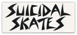 DOGTOWN SUICIDAL SKATES LOGO WHITE STICKER