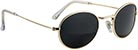 GLASSY CAMPBELL POLARIZED GOLD SUNGLASSES