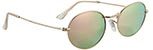 GLASSY CAMPBELL POLARIZED GOLD/PINK MIRROR SUNGLASSES