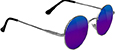GLASSY MAYFAIR SILVER/BLUE MIRROR SUNGLASSES