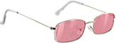 GLASSY RAE POLARIZED SILVER/PINK MIRROR SUNGLASSES